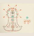 yoga day card lotus pose meditation vector image