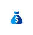 dollar bag sign abstract logo vector image