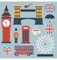 London flat icon set vector image