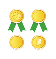 Golden Medal to St Patrick Day vector image