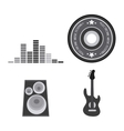 Icon set Electro Party and Music design vector image