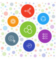 7 molecular icons vector image vector image