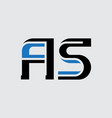 a and s - initials or logo as - monogram or vector image vector image