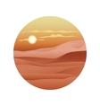 beautiful sunset over sand dunes sahara vector image