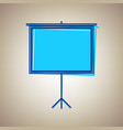 blank projection screen sky blue icon vector image vector image