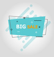blue flat speech bubble shaped banners vector image vector image