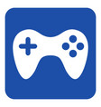 blue white information sign - gamepad icon vector image