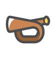 bugle scout trumpet icon cartoon vector image vector image