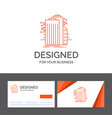 business logo template for building technology vector image