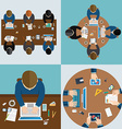 Business meeting and brainstorming Flat design vector image vector image