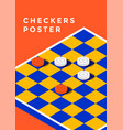 checkers game poster vector image vector image