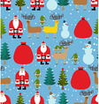 Christmas pattern Background of snowfall vector image vector image