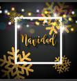 christmas with spanish feliz vector image vector image