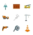 Construction icons set flat style vector image vector image
