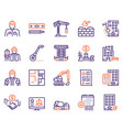 construction industry color linear icons vector image vector image
