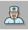 contour doctor icon four variations hatching vector image