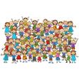 Crowd of children vector image vector image