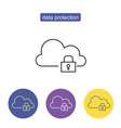 data protection sign vector image