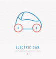 electric car thin line icon vector image vector image