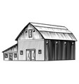 farm barn isolated on white background hand drawn vector image