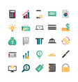 finance money business economy icons set vector image vector image