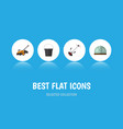 flat icon farm set of hothouse grass-cutter lawn vector image vector image
