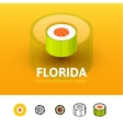Florida icon in different style vector image vector image