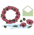 flowers and letter cartoon clipart color vector image vector image