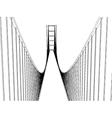 Golden Gate Bridge - San Francisco vector image vector image
