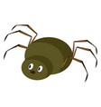 green spider on white background vector image vector image