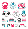 gym club emblems vector image vector image