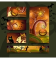 Halloween cards set vector image