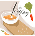 hand drawn abstract modern cartoon cooking vector image vector image