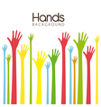 hands background vector image