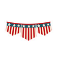 happy independence day american flag in buntings vector image vector image