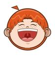 happy young boy icon vector image vector image
