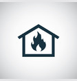 home fire insurance icon trendy simple symbol vector image vector image