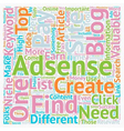 How To Find Your Own Valuable Adsense Keywords For vector image vector image