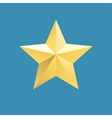 icon of relief gold star vector image vector image