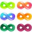 infinity symbol logo set vector image