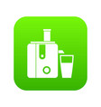 juicer icon digital green vector image