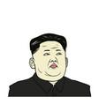 kim jong-un flat design vector image vector image