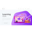 learning landing page template vector image vector image