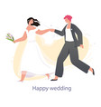 lgbt couple getting married vector image