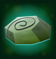 magic stone game icon on green background vector image vector image