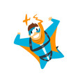 man in wingsuit skydiving parachuting extreme vector image vector image
