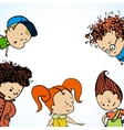 many children greetings vector image vector image