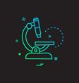 microscope science icon design vector image