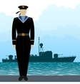 Military Uniform Navy sailor-7 vector image vector image