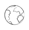 monochrome blurred silhouette of earth globe icon vector image vector image